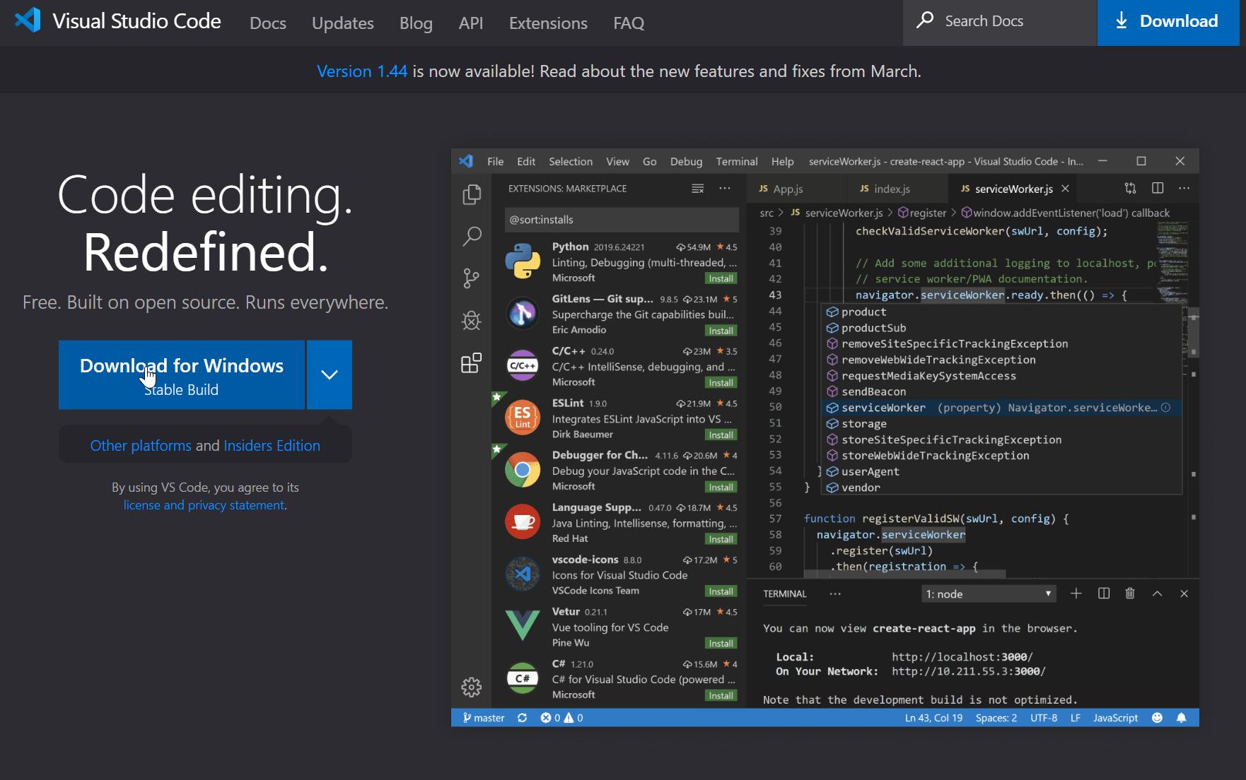 Downloading Visual Studio Code